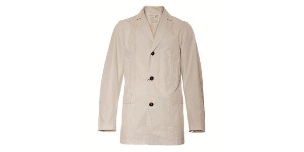 Pánský krémový kabát Pietro Filipi