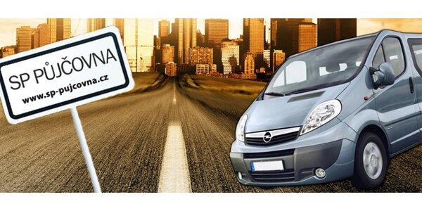 Půjčení 9místného vozidla Opel Vivaro nebo VW Caravelle - v ceně 300 km
