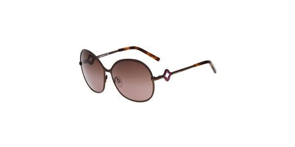 Dámské kulaté kovové sluneční brýle Miss Sixty s hnědými sklíčky