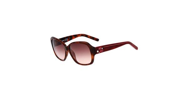 Dámské žíhané hranaté plastové sluneční brýle Miss Sixty