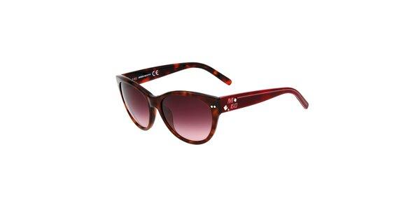 Dámské hnědé žíhané sluneční brýle Miss Sixty
