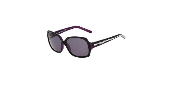 Dámské černé plastové sluneční brýle Miss Sixty