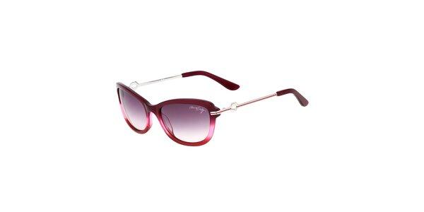 Dámské fialové retro sluneční brýle s tenkými stranicemi Miss Sixty