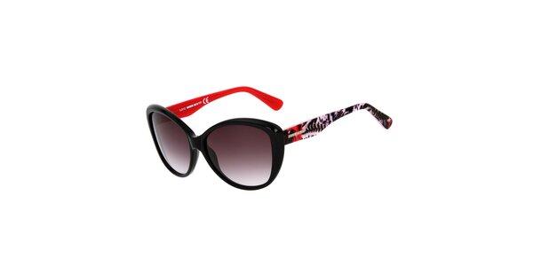 Dámské černé kočičí sluneční brýle s barevnými stranicemi Miss Sixty