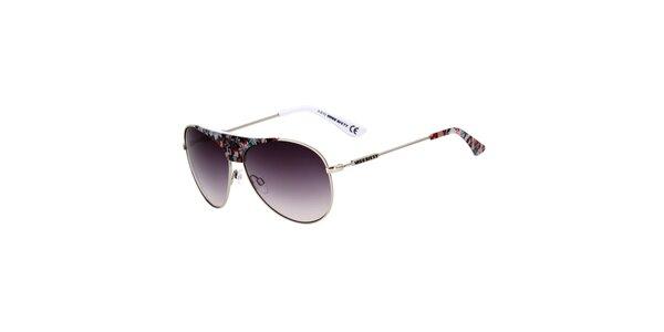 Dámské aviator sluneční brýle s květinovými detaily Miss Sixty