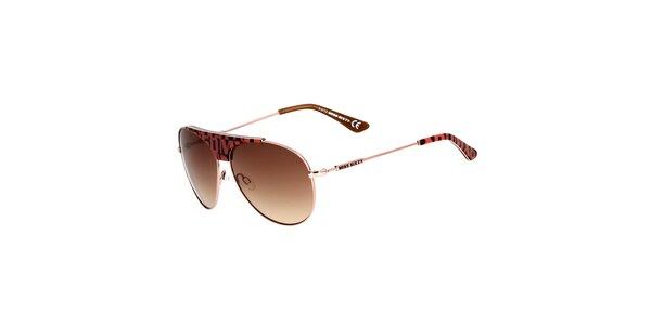 Dámské aviator sluneční brýle s barevnými detaily Miss Sixty