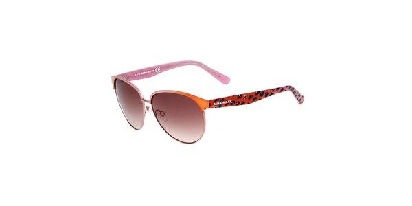 Dámské oranžovo-růžové sluneční brýle Miss Sixty