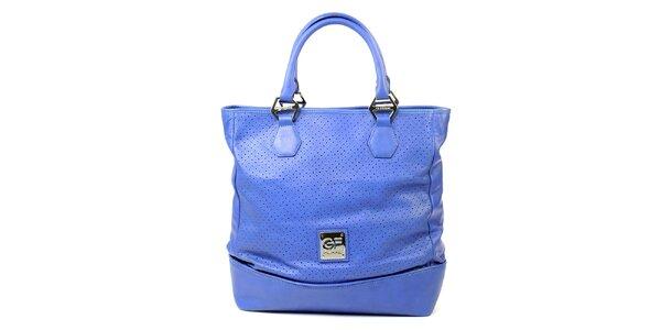 Dámská modrá kabelka s perforací Gianfranco Ferré