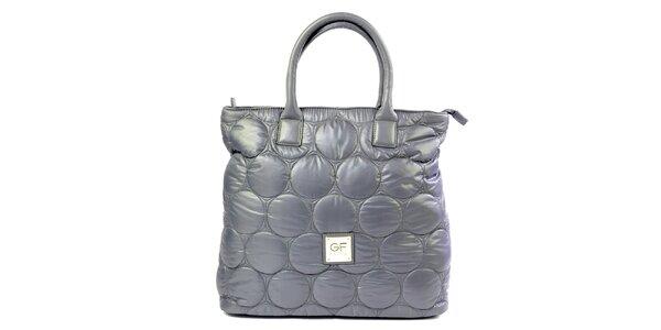 Dámská fialová látková prošívaná kabelka Gianfranco Ferré