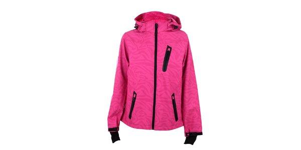 Dámská růžová lyžařská bunda s černými detaily Authority