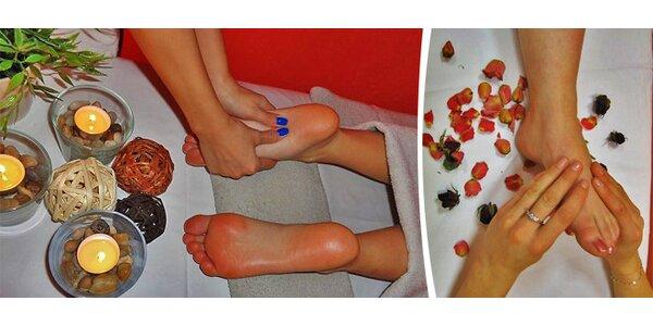 Reflexní masáž plosek nohou s peelingem - 60 minut