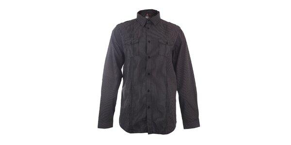 Pánská černě proužkovaná košile Authority