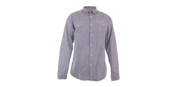 Pánská modře proužkovaná košile Authority