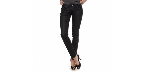 Dámské černé džíny Zu Elements s lesklým povrchem