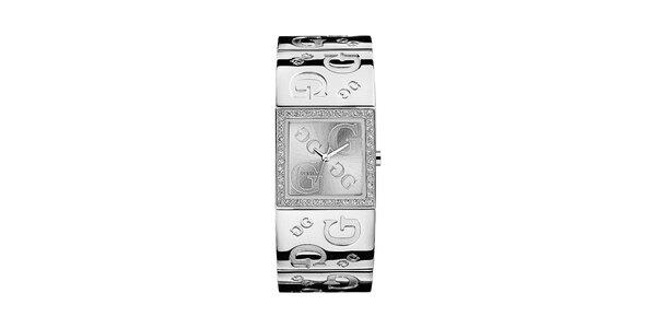 Dámské náramkové hodinky ve stříbrné barvě Guess