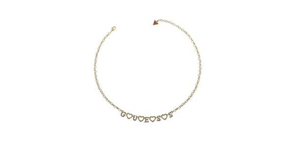 Dámský zlatě zabarvený náhrdelník Guess a811ab5bb5a