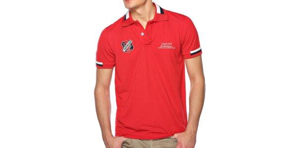 Pánské červené polo tričko M. Conte
