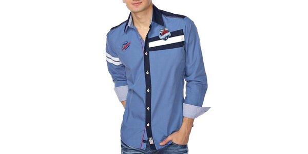 Pánská blankytně modrá košile M. Conte