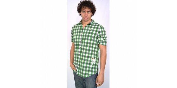 Pánská zeleno-šedá kostkovaná košile Energie