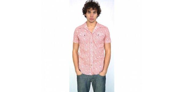 Pánská světle růžová košile Energie s potiskem