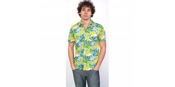 Pánská modro-žluto-zelená havajská košile Energie