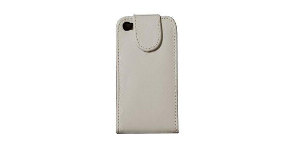 Bílé kožené pouzdro na iPhone 4/4S