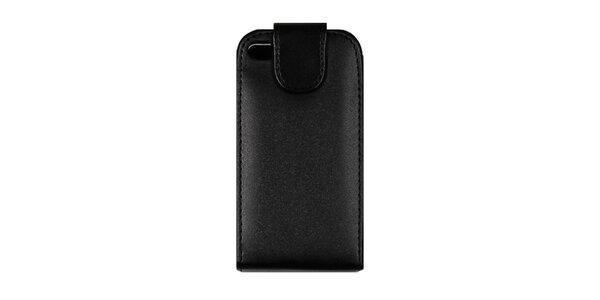 Černé kožené pouzdro na iPhone 4/4S