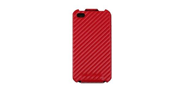 Červené karbonové pouzdro na iPhone 4/4S