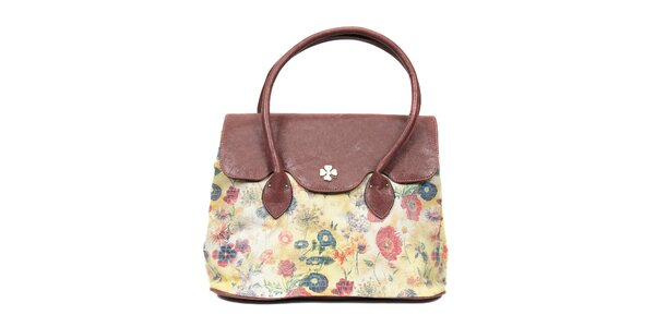 Elegantní kabelka značky Doca s květinovým motivem