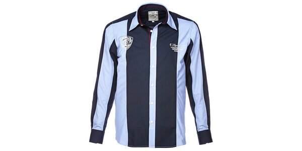 Pánská modrá košile s barevnými kontrasty M. Conte