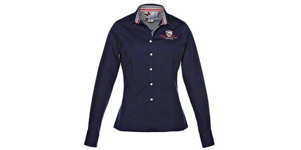 Dámská modrá košile s výšivkou M. Conte
