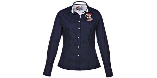 Dámská tmavě modrá košile s projmutým střihem M. Conte