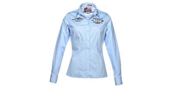 Dámská světle modrá košile s dlouhým rukávem M. Conte