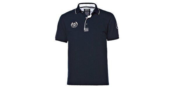 Pánské tmavě modré polo triko M. Conte