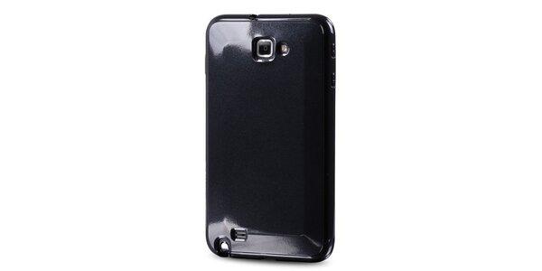 Lesklé černé plastové pouzdro na Samsung Galaxy Note i9220