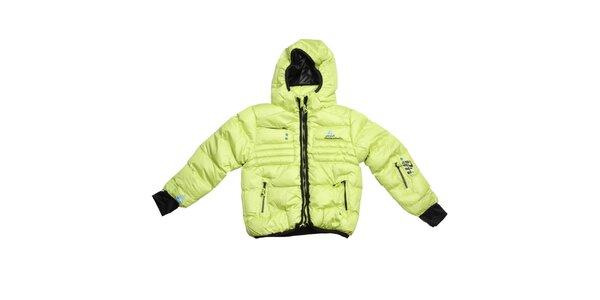 Dětská světle zelená prošívaná zimní bunda Peak Mountain
