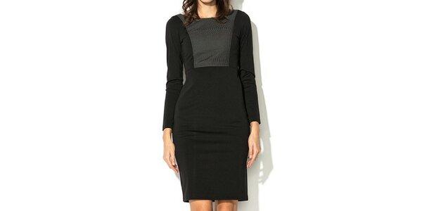 Dámské černé šaty s šedým dílem Eccentrica