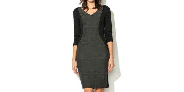 Dámské černo-šedé šaty Eccentrica