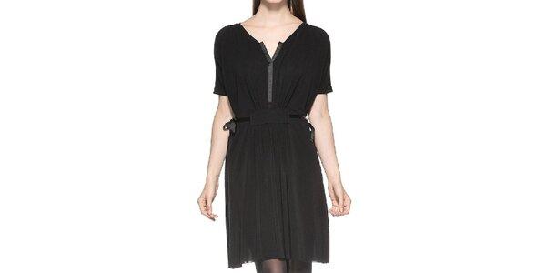 Dámské nařasené černé šaty Eccentrica