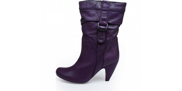 5cea4537043 Dámské tmavě fialové kotníkové kozačky Fornarina
