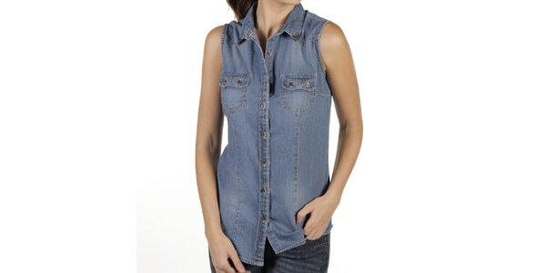 Dámská džínová košile bez rukávů New Caro