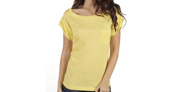 Dámské žluté tričko New Caro