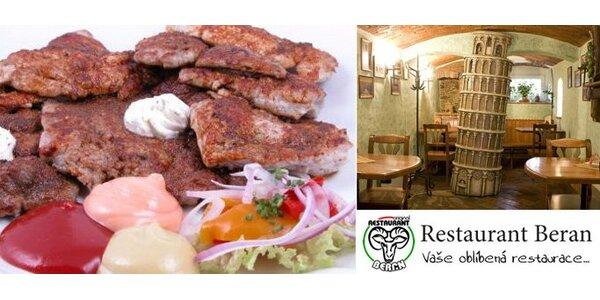330 Kč za Mix grill v restauraci Beran. 600 g masa pro dva se slevou 50%.