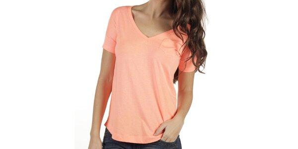 Dámské meruňkové tričko New Caro