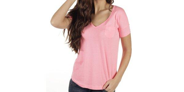Dámské růžové tričko New Caro