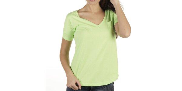 Dámské pastelově zelené tričko New Caro