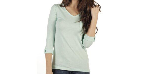 Dámské světle zelené triko s dlouhým rukávem New Caro