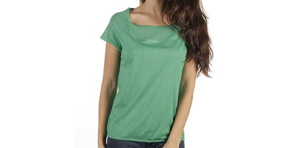 Dámské zelené triko s krátkým rukávem New Caro