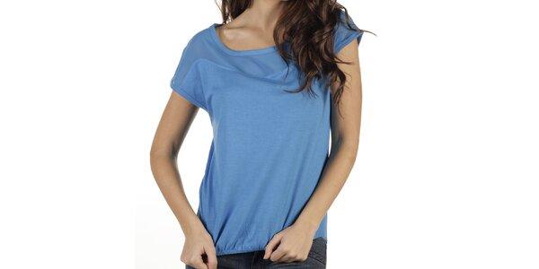 Dámské modré triko s krátkým rukávem New Caro