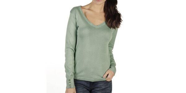 Dámský zelenkavý svetr New Caro